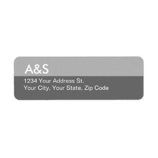 Modern Gray Return Address Labels