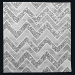 """Modern gray watercolor faux silver glitter chevron cloth napkin<br><div class=""""desc"""">A modern,  elegant gray watercolor geometric chevron pattern with chic faux silver glitter and custom white zigzags pattern. A bit of glitz and glam with an artistic touch.</div>"""
