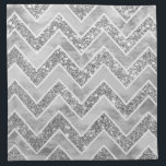 "Modern gray watercolor faux silver glitter chevron cloth napkin<br><div class=""desc"">A modern,  elegant gray watercolor geometric chevron pattern with chic faux silver glitter and custom white zigzags pattern. A bit of glitz and glam with an artistic touch.</div>"