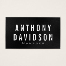 Modern Gray White Huge Letters Business Card at Zazzle