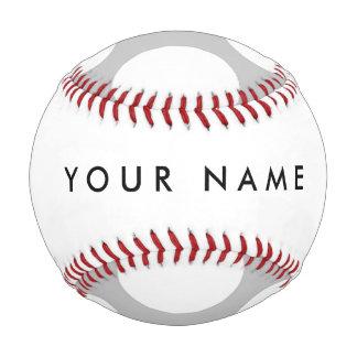 Modern Gray White Polka Dots Pattern Baseball