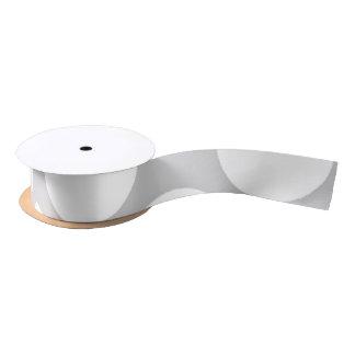 Modern Gray White Polka Dots Pattern Satin Ribbon