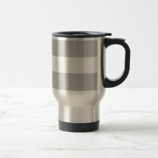 Modern Gray White Stripes Pattern Mug