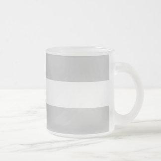 Modern Gray White Stripes Pattern Coffee Mug