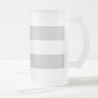 Modern Gray White Stripes Pattern Beer Mugs