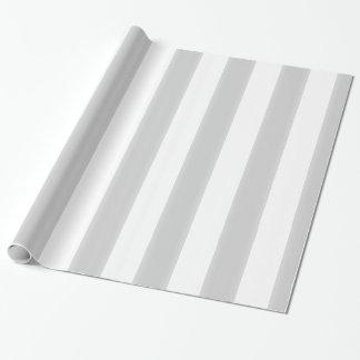 Modern Gray & White Stripes Wrapping Paper