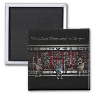 Modern Greek Black Figure 2 Inch Square Magnet