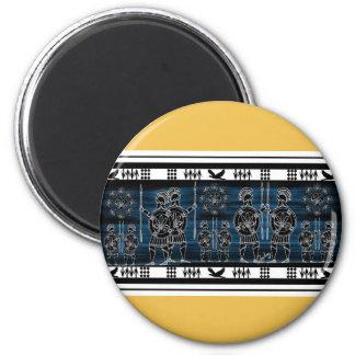 Modern Greek Black Figure 2 Inch Round Magnet