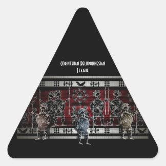 Modern Greek Black Figure Triangle Sticker