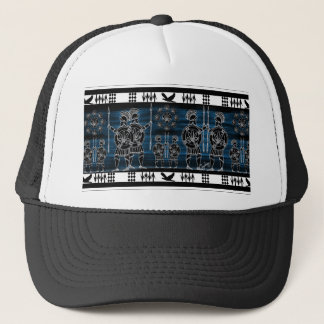 Modern Greek Black Figure Trucker Hat