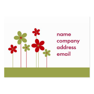 modern green and red business card