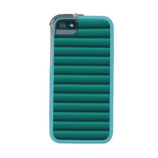 Modern Green and Teal Striped iPhone 5 Case