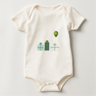 Modern Green and Turquoise Happy Birthday Bodysuits