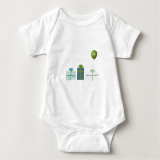 Modern Green and Turquoise Happy Birthday Tshirts