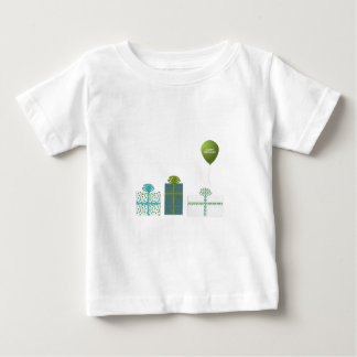 Modern Green and Turquoise Happy Birthday Shirt