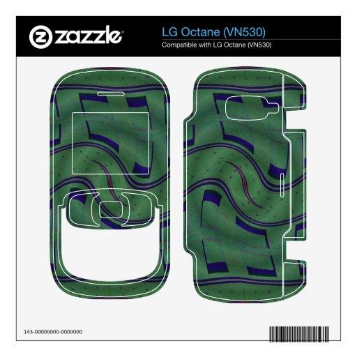 modern green blue abstract skins for LG octane
