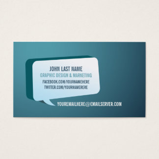 Modern Green Blue Business Card