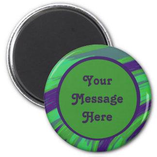 Modern Green Blue Color Swish Magnet