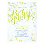 Modern Green Blue White Baby Sprinkle Invitation Invitations