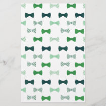 Modern Green Bow Tie pattern bowties
