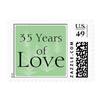 Modern Green Brown Forest Anniversary Love Stamp