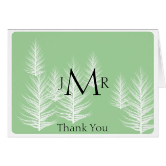 Modern Green Brown Forest Anniversary Thank You Card