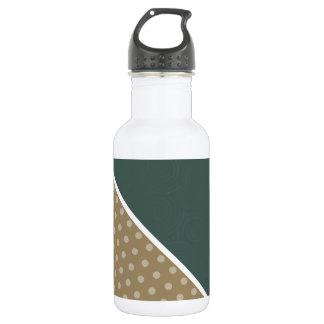 Modern Green & Brown Polka Dot 18oz Water Bottle