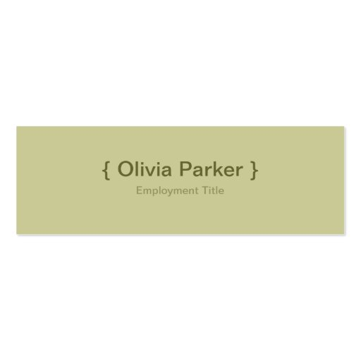 Modern green business card zazzle for Sustainable business cards