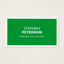 MODERN GREEN BUSINESS CARD FOR COLLEGE STUDENTS