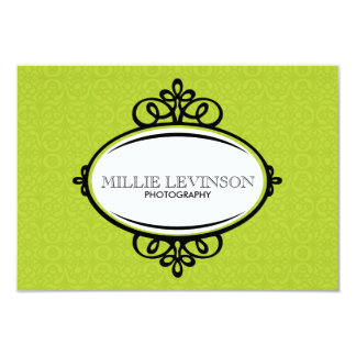 Modern Green Business Tag Card