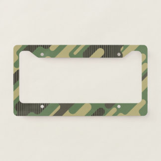 Modern Green Camouflage. Camo your License Plate Frame
