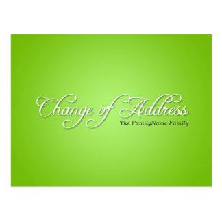 Modern Green Change of Address Postcard