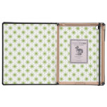Modern Green Christmas Star Pattern Cover For iPad