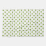Modern Green Christmas Star Pattern Kitchen Towels