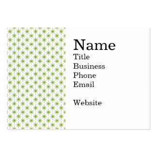 Modern Green Christmas Star Pattern Large Business Card