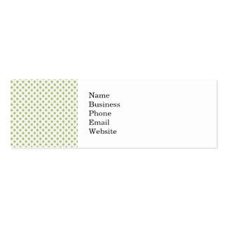 Modern Green Christmas Star Pattern Mini Business Card