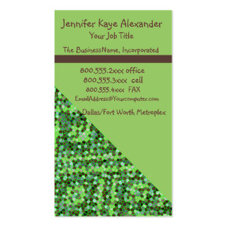Modern Green Dot Double-Sided Standard Business Cards (Pack Of 100)
