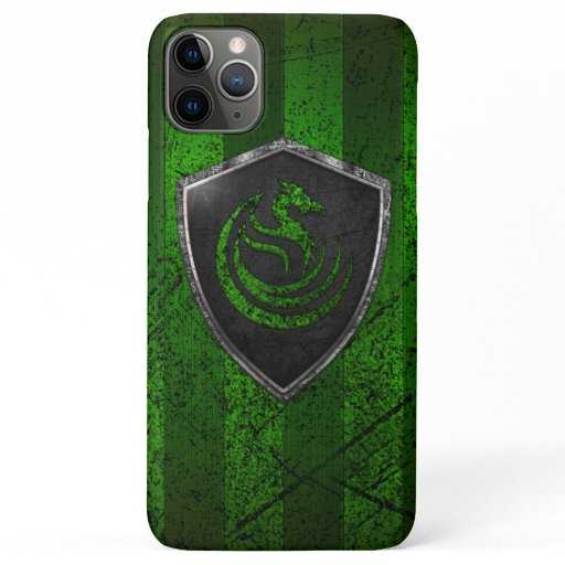 Modern Green Dragon Emblem Coat Of Arms iPhone 11 Pro Max Case