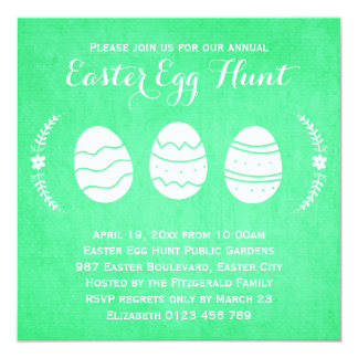 Modern Green Easter Egg Hunt Party Card