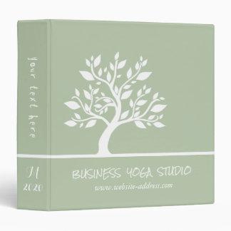 Modern Green Elegant Classy Tree YOGA Instructor Binder