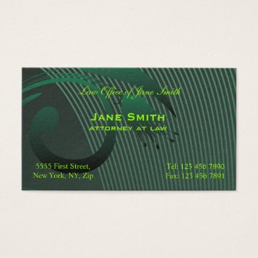 Lawyer Themed MODERN Green Flower Business Card
