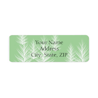 Modern Green Forest Anniversary Return Address Return Address Label