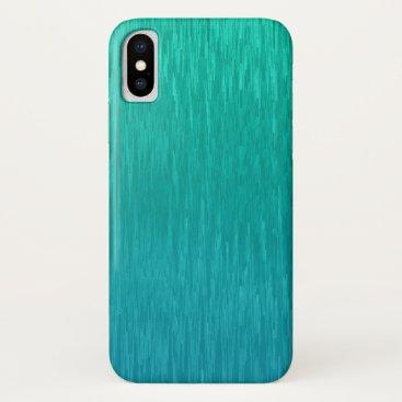 Modern Green Glitch Watercolor Pattern iPhone X Case