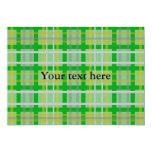 Modern green gold and silver plaid 5x7 paper invitation card