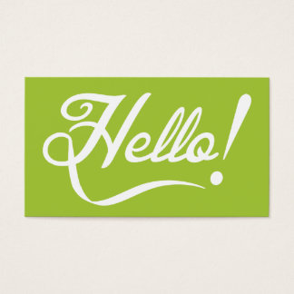 Modern Green - Hello Business Card
