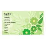 Modern Green Leaf and Flowers Business Card Templates