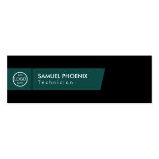 Modern | (Green) Mini Business Card