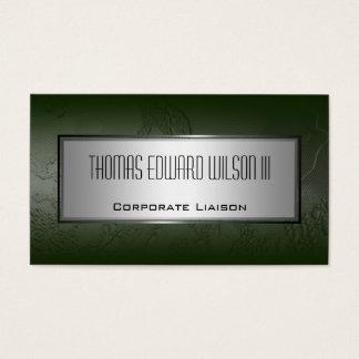 Modern Green Minimalist Industrial Business Card