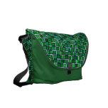 Modern Green Mosaic Tile Pattern Courier Bag