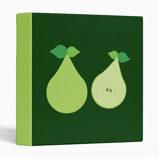 Modern Green Pear Binder